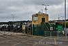 On the West Pier at Howth there is a tramway to transport boats from Drydock to the harbour. Control tower. Sun 08.10.17