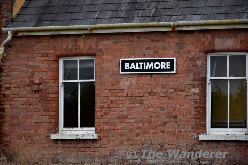 The former Baltimore Station is now a road which skirts the town. Station building. Sun 01.10.17