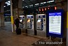 In addition to the platform departure screens, several screens located around the station give departure and arrival information for services. This one is located on the secondary concourse next to the ticket vending machines. Sun 08.10.17