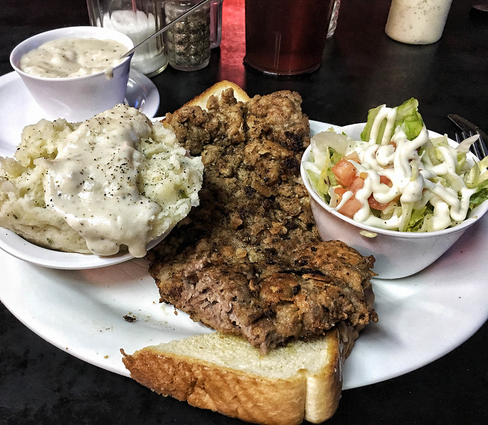 Chicken fried steak from Mary's Cafe, Strawn