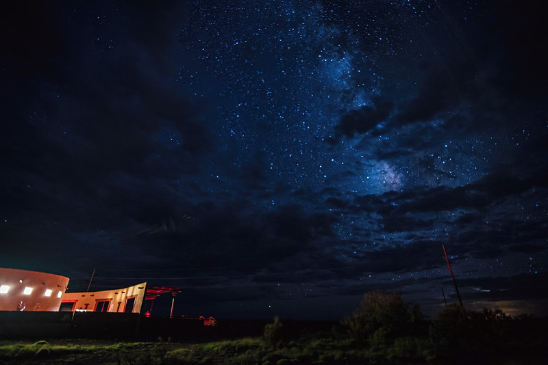 Night sky at the Marfa Lights Viewing Area