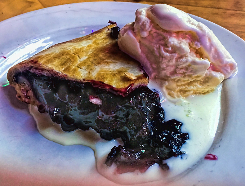 Blueberry pie a la mode from the AllGood Cafe, Deep Ellum, Dallas