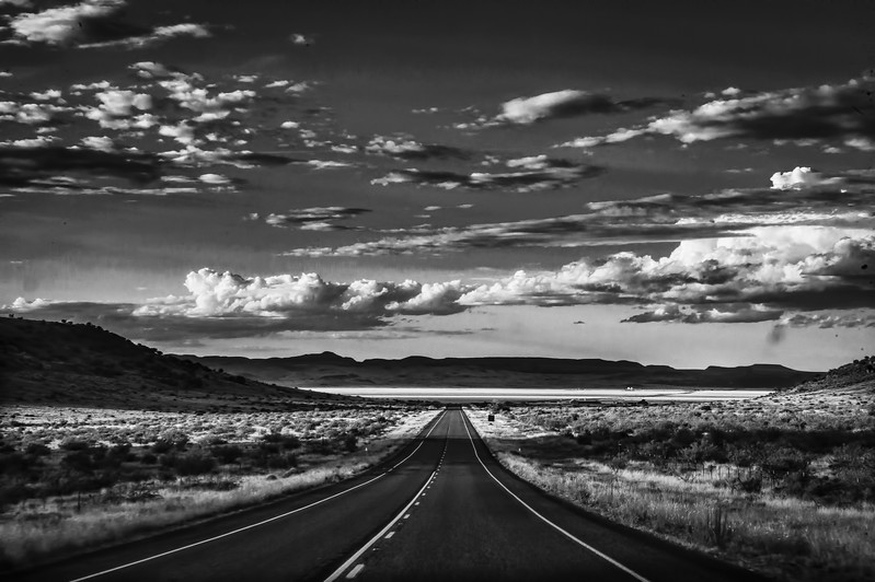 Road shot between Marfa and Fort Davis
