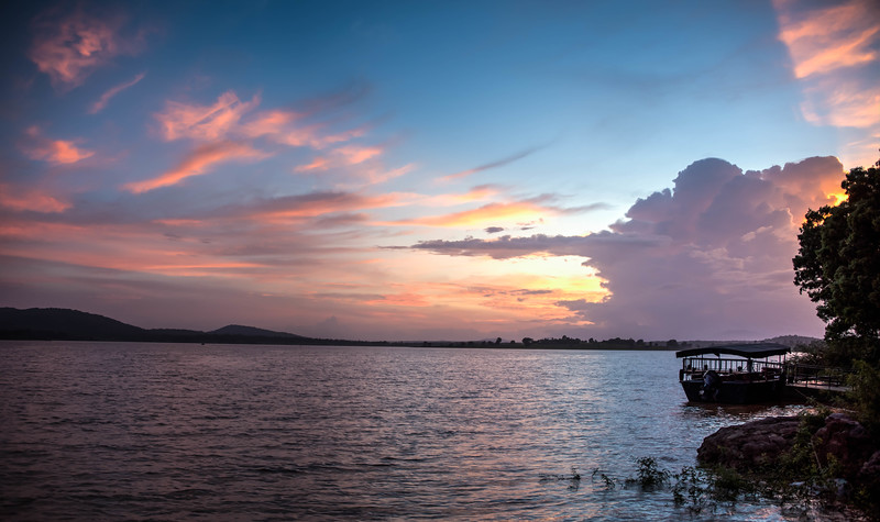 Sunset on the Kabini River