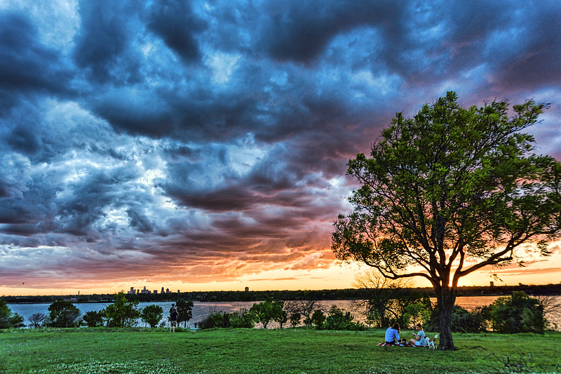 Sunset at Winfrey Point, White Rock Lake
