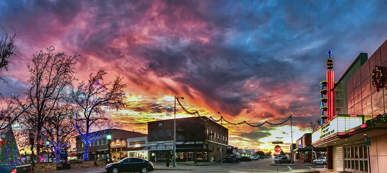 Garland Town Square Sunset
