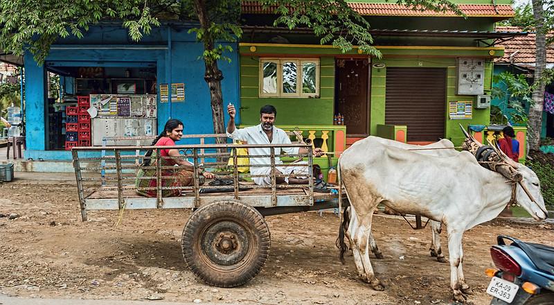 India street and village scene