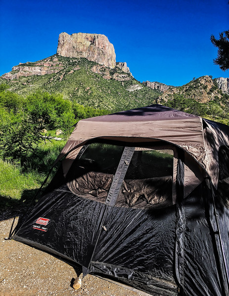 Tent with a view, Big Bend National Park