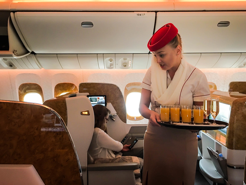 Superb service on Emirates Airlines business class