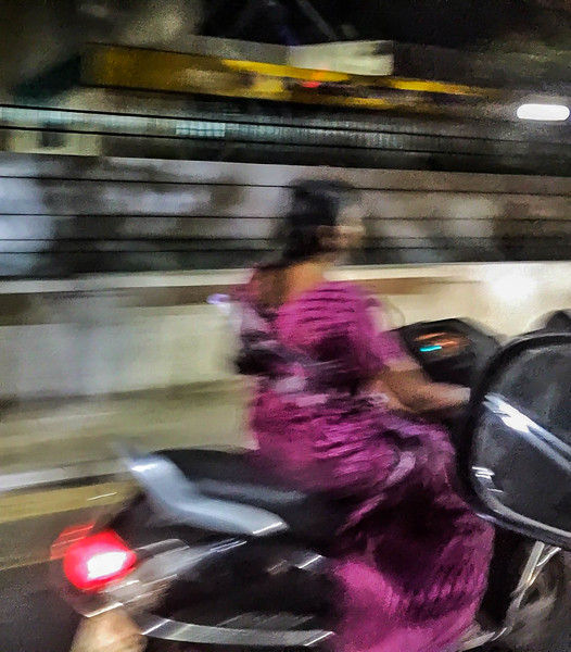 Crazy traffic in India