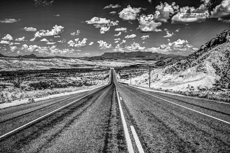 Terlingua road shot