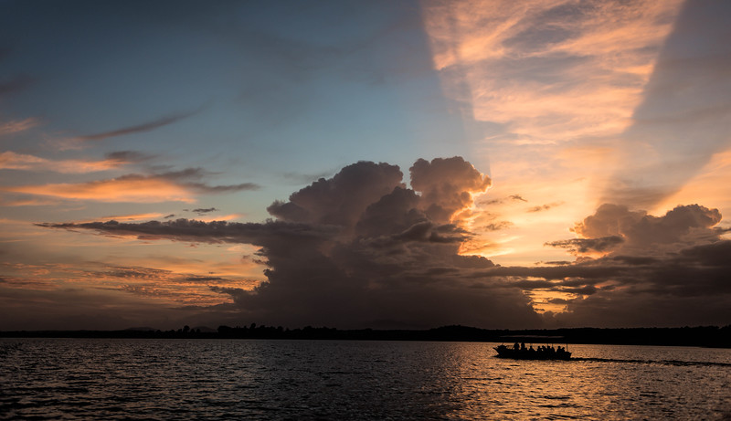 Sunset on the Kabini River