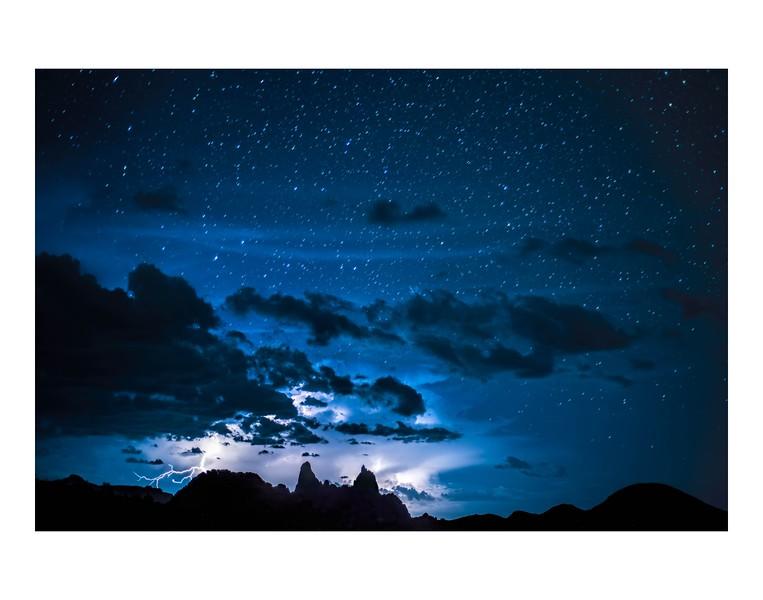 Stars over Mule Ears 11x14