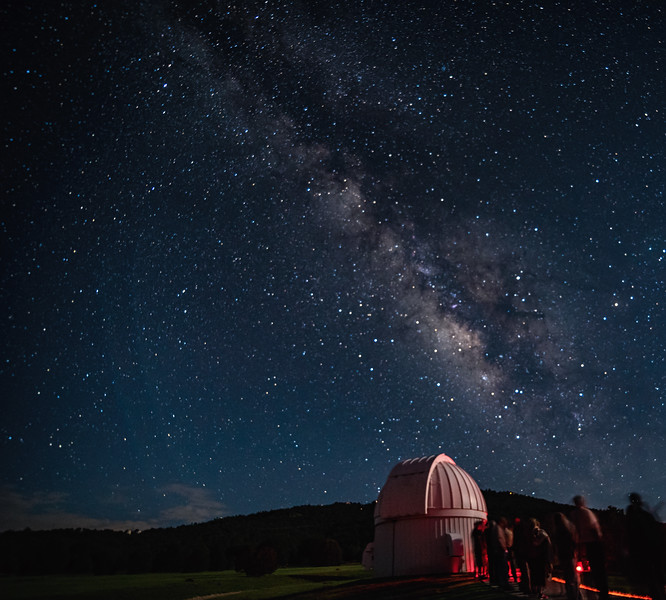 Milky Way over McDonald Observatory