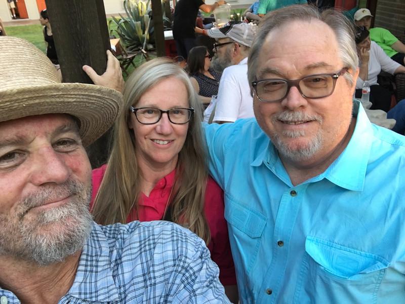 Walt Wilkins, Robbyn Dodd, and me