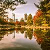 autumn season in charlotte north carolina marshall park