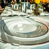 family time dishes set for dinner on table