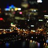 night scenes around city of pittsburgh pennsylvania