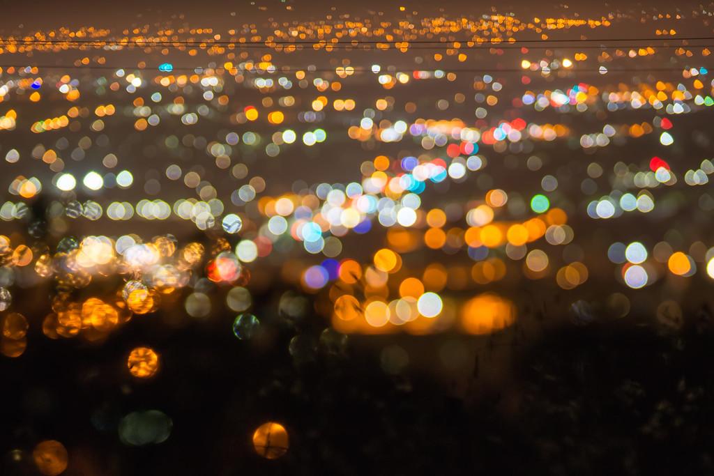 city lights bokeh night abstract