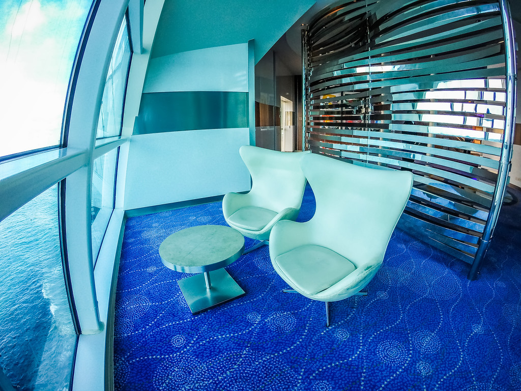 scenes on deck of cruise ship linerin pacific ocean