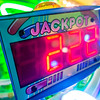 arcade video games and lights and spinning wheels
