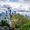 seattle washington city skyline from kerry park