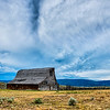 old wooden barn in the mountains in montana