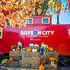 Bryson city, NC October 23, 2016 - Great Smoky Mountains Train ride city scenes
