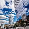 austin texas city skyline and city streets