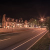 downtown of newport rhode island at dusk hours