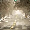 winter storm passing through york south carolina downtown