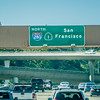 highway sign on way to san francisco california