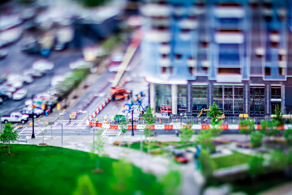miniature views around city of charlotte north carolina