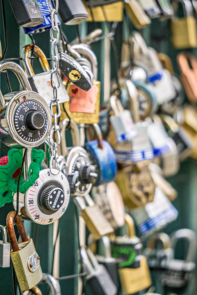 bunch of locks on chainlink fence