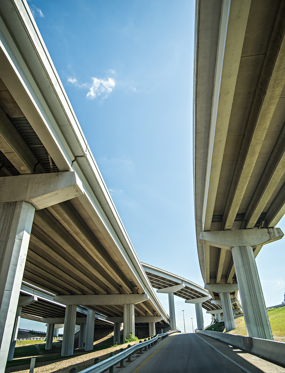 Highway motorway viaduct interchange