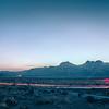 long exposure shot at sunset in red rock canyon near las vegas