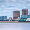Baton Rouge Louisiana city skyline and surrounding views