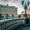 November 2017 Las Vegas NV - hotels and restaurants on las vegas strip around Bellagio fountains