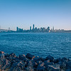 san francisco california city skyline at spring sunset