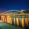 three rivers heritage trail passes over bridge in pittsburgh pa