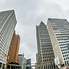 downtown detroit michigan city skyline