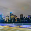 Houston Texas modern skyline at night
