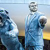 jerry richardson statie with black panthers