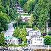 houses on water edge in ketchikan alaska