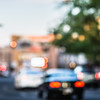 blurry soft focus of city streets in spokane washington