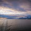 mud bay alaska sunset in summer