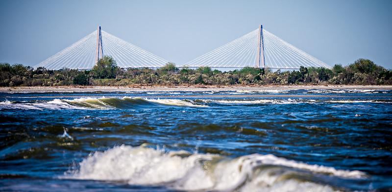 The Arthur Ravenel Jr. Bridge that connects Charleston