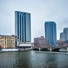 grand rapids michigan city skyline and street scenes