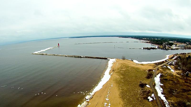 coastal views around manistique michigan