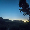 Red rock canyon near las vegas after sunset